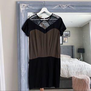 Sandro Silk Rocher Lace dress size 3 / L